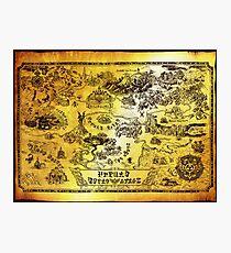 Hyrule Map Legend of Zelda Photographic Print