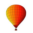 Red Hot Air Balloon by Starzology
