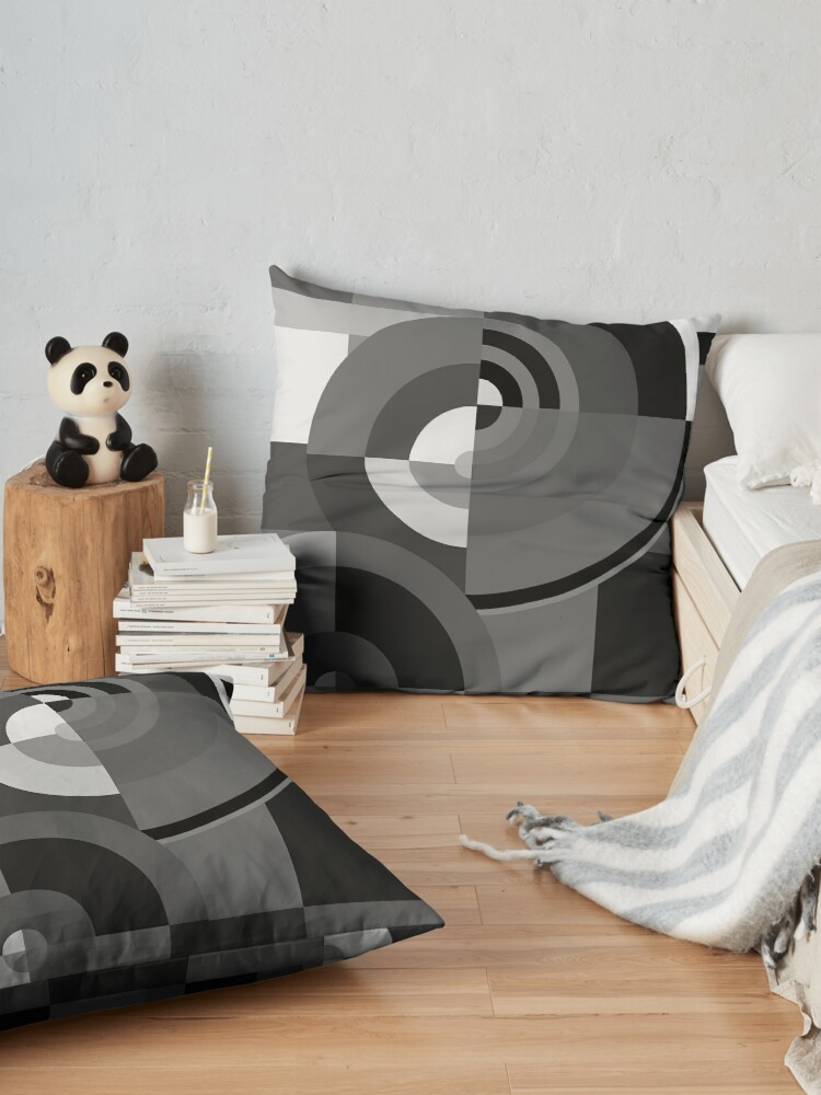 Alternate view of Geometric Revolution 10 Floor Pillow