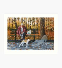 She's a lovely pup, plays on her own for hours.. Art Print