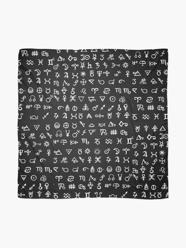 Alternate view of Alchemy Symbols Scarf