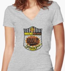 usa brooklyn hoodie by rogers bros Women's Fitted V-Neck T-Shirt