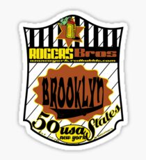 usa brooklyn hoodie by rogers bros Sticker