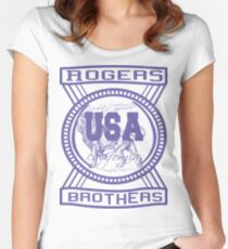 usa california hoodie by rogers bros co Women's Fitted Scoop T-Shirt
