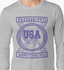 usa california hoodie by rogers bros co Long Sleeve T-Shirt