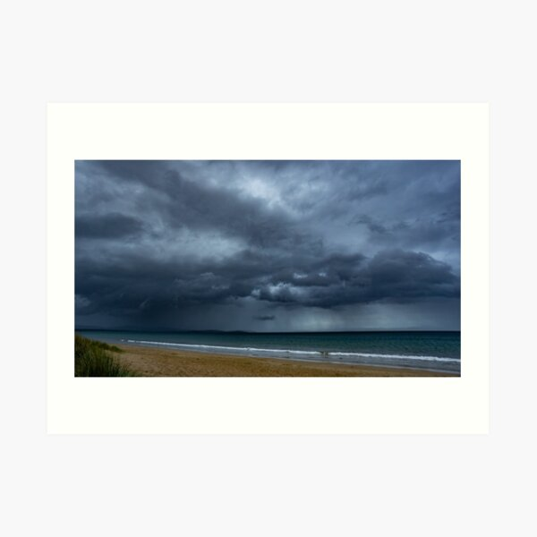 Storm over Dunalley Art Print