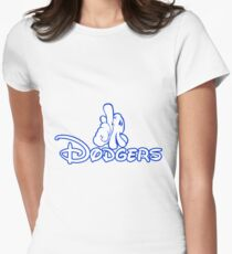 los angeles dodgers logo Womens Fitted T-Shirt