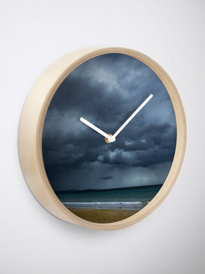 Alternate view of Storm over Dunalley Clock