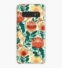 Protea Chintz - Teal & Orange  Case/Skin for Samsung Galaxy