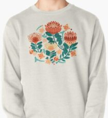 Protea Chintz - Teal & Orange  Pullover Sweatshirt