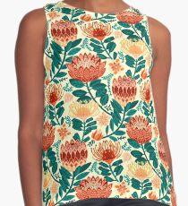 Protea Chintz - Teal & Orange  Sleeveless Top