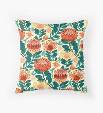 Protea Chintz - Teal & Orange  Floor Pillow