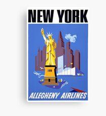 New York Vintage Travel Poster Canvas Print
