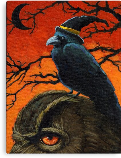 The Owl & the Crow by LindaAppleArt