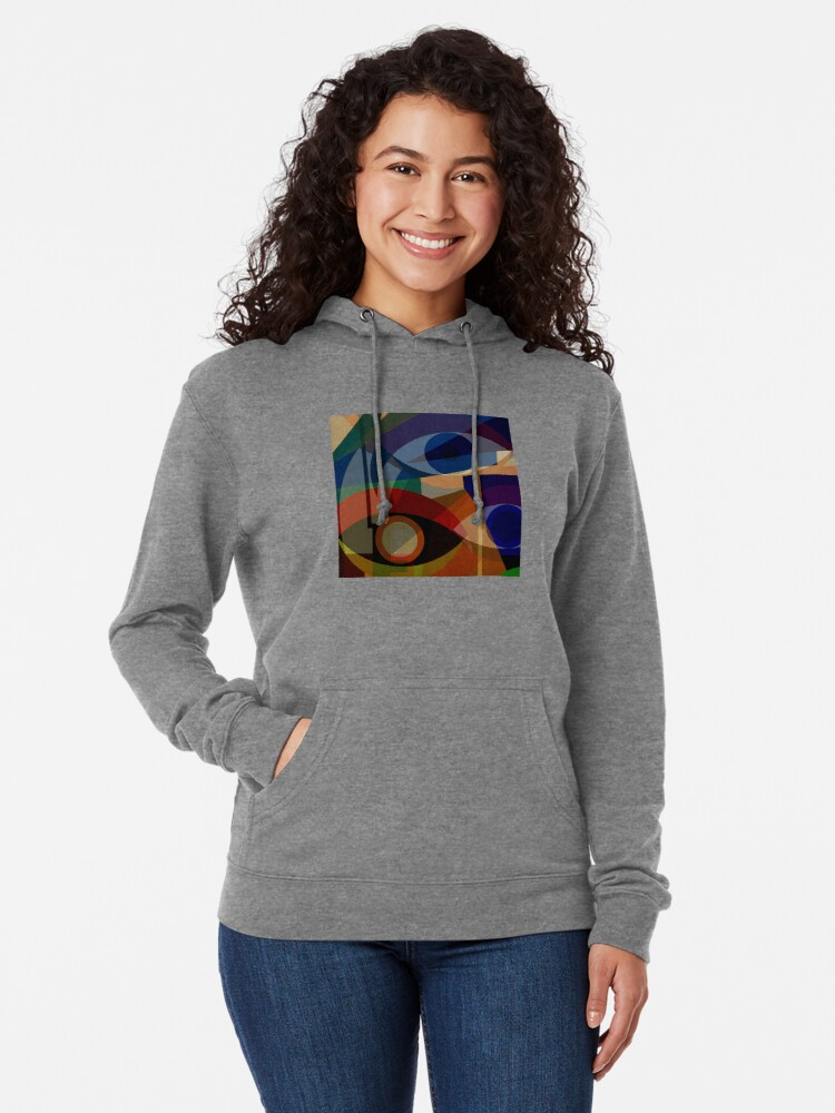 Alternate view of Space Shapes FIVE Lightweight Hoodie