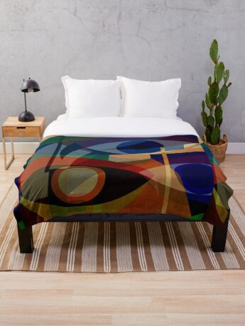 Space Shapes FIVE Throw Blanket