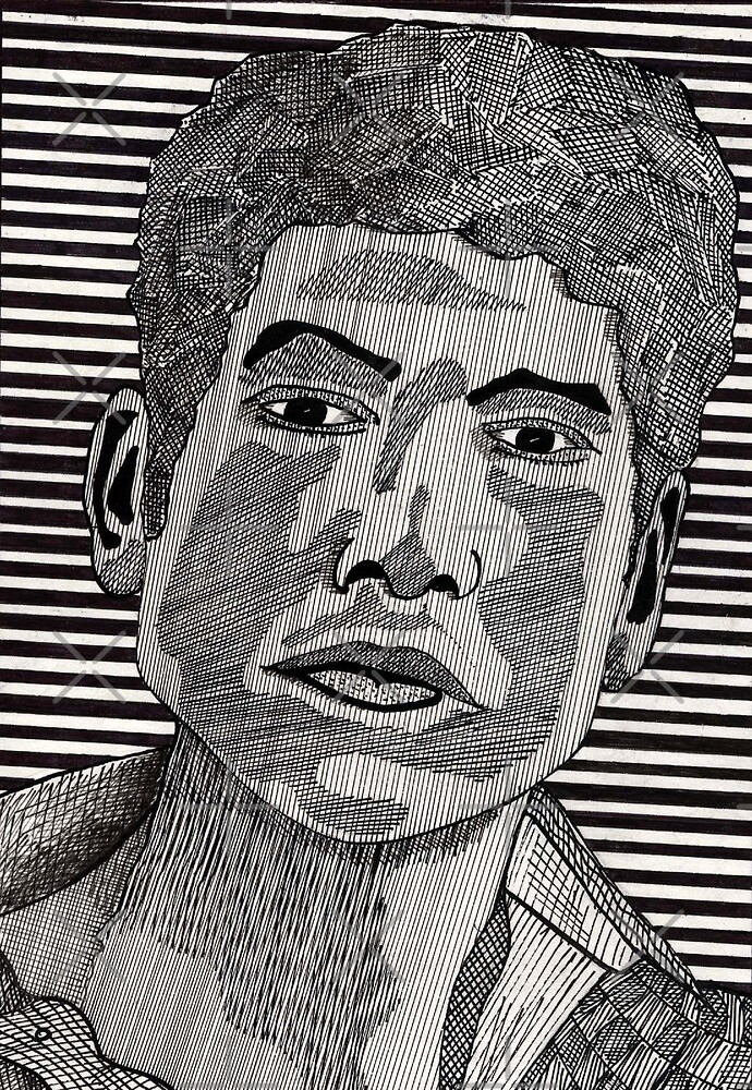78 - BOB DYLAN - DAVE EDWARDS - INK - 1984 by BLYTHART