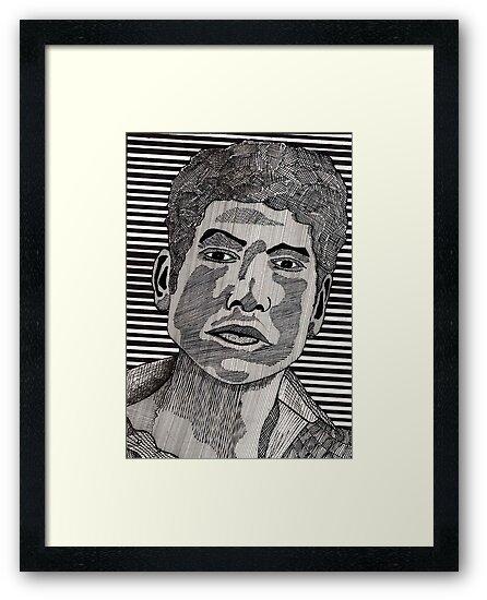 78 - BOB DYLAN - DAVE EDWARDS - INK - 1984 by BLYTHART