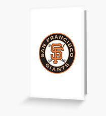 san francisco giants logo Greeting Card