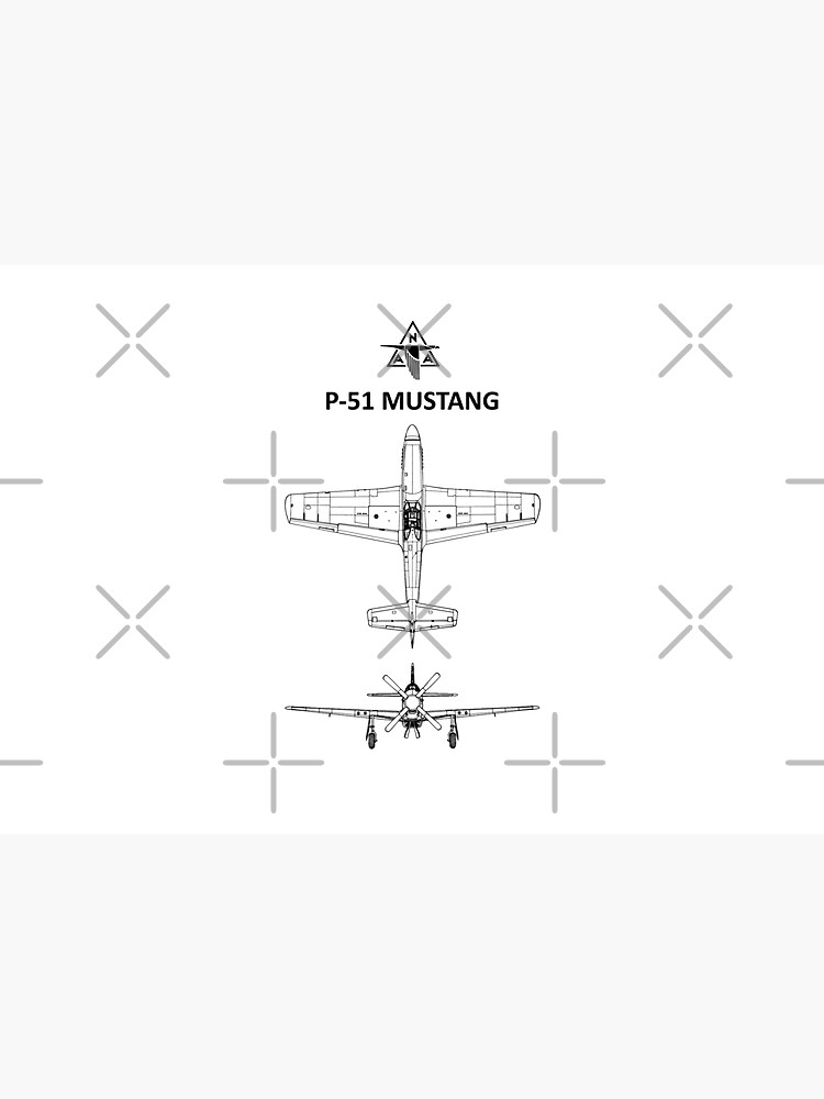 The P-51 Mustang Blueprint by rogue-design
