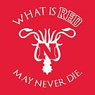 What Is Red May Never Die by JenSnow