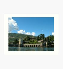 Clouds Over Lake Maggiore v.2 Art Print