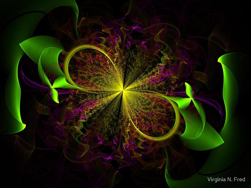 Ribbon Bloom by Virginia N. Fred