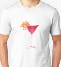 Cosmopolitan Watercolour Cocktail Unisex T-Shirt