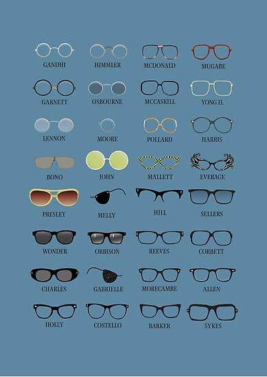 Glasses - Blue Background by Stephen Wildish