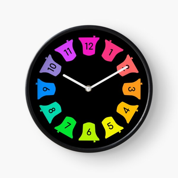 Bell Ringing - RAINBOW BELLS - Numbers Clock