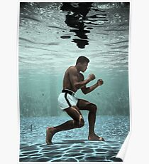 Ali Under Water Boxing Poster