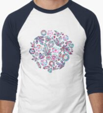 Kaleidoscope Crystals  Baseball ¾ Sleeve T-Shirt