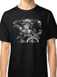 Cyberpunk Vintage Robot with Flower Classic T-Shirt