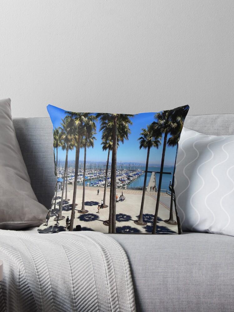 'South Beach Harbor Marina, San Francisco' Throw Pillow by Deepak  Subramanian