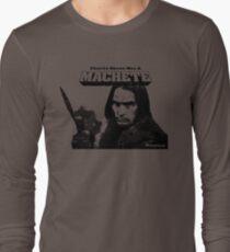 Charlie Sheen Has a Machete Long Sleeve T-Shirt