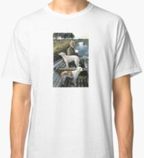 Beard Man Dogs Boat Classic T-Shirt