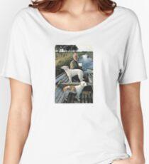 Beard Man Dogs Boat Women's Relaxed Fit T-Shirt