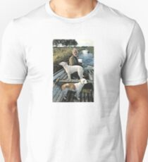 Beard Man Dogs Boat Unisex T-Shirt