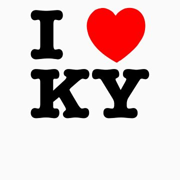 I Love KY (black) by YellowGecko