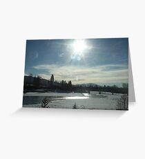 Thawing Sun...Washington State. USA Greeting Card
