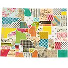 Colorado Love - Bright and Colorful Collage Quilt State Map Art by traciwithani