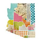 Arizona Love - Bright and Colorful Collage Quilt State Map Art by traciwithani