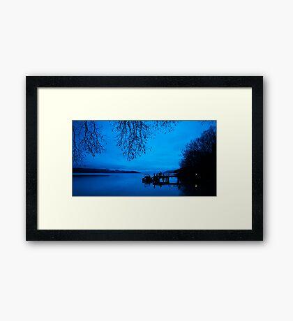 Photographers at Dawn, Kinloch NZ Framed Print