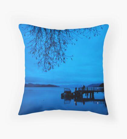 Photographers at Dawn, Kinloch NZ Throw Pillow