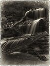 Shawnee Falls (faux vintage) by Aaron Campbell