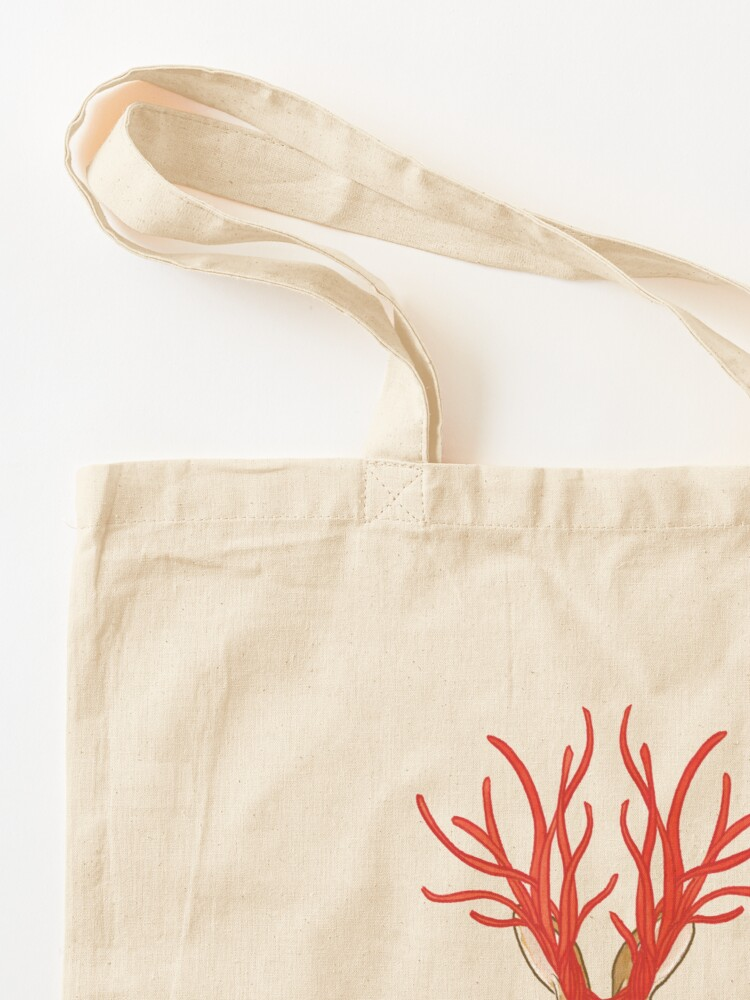 Alternate view of Mythological Candy Masquerade - Hare as a Jackalope Cherry Licorice Tote Bag