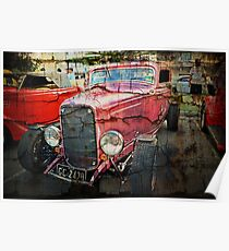1932 3 Window Coupe HDR with layers Poster