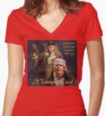 A Trumpmas Carol Fitted V-Neck T-Shirt