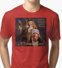 A Trumpmas Carol Tri-blend T-Shirt