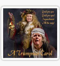 A Trumpmas Carol Glossy Sticker